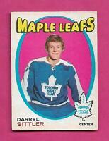 1971-72 OPC # 193 LEAFS DARRYL SITTLER 2ND YEAR VG+  CARD (INV# C2474)
