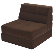 Tri Fold Down Chair Flip Out Lounger Convertible Sleeper Bed Couch Dorm New