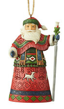 Enesco Jim Shore Heartwood Creek Lapland Santa With Staff Ornament Nib 6004301