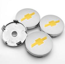 *NEW* 4pcs 60mm for Chevrolet Silver Wheel Center Caps Rim Caps Hub Caps Emblem
