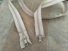 "58 Cm Vislon Zipper Two Way Silver Star Puller White 1 zip 23/"""