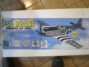 P-51d mustang RC airplain model kit Bslsa wood