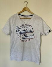 T-shirt col V - KAPORAL - gris chiné - taille S - BE