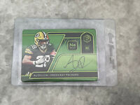 2020 Elements AJ Dillon Neon Signatures Rookie Metal On Card Autograph #d /10 RC