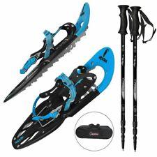 Alpidex Erwachsenen Schneeschuhe inkl. Stock + Tasche blau Superset UVP 379