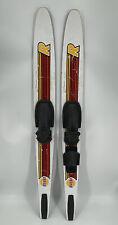 "Vtg Rivera Graphite 66"" Competition Adjustable Water Skis"