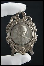 † 1930 SAINT JMB VIANNEY SILVERPLATED ICON PLAQUE MEDAL THE CURE OF ARS FRANCE †