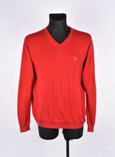 GANT cuello en V hombre rojo jersey talla L