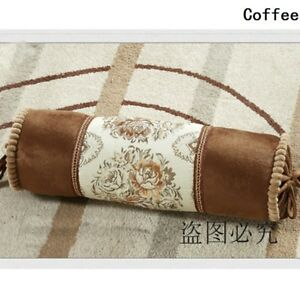 16X50cm Bolster Round Cylinder Embroidery Flower Long Cushion Throw Pillow Home