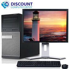 "Dell Desktop Computer PC Quad i5 8GB 1TB HD Wifi DVD 19"" LCD Windows 10 Pro"