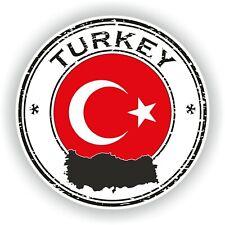 Turquía Sello Sello Pegatina para Coche Camión Portátil Tablet Nevera Puerta
