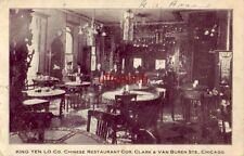 KING YEN LO Co. CHINESE RESTAURANT, Clark & Van Buren Sts. CHICAGO 1908