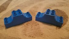 Lego Duplo Lot Of 2 Specialty Blocks 2x2 2x6 Double Curved Arch Blue