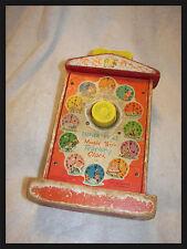 toy clock  Music Box Teaching Clock Vintage 1962-1968 Fisher Price see pics