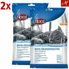 2 PACKS = 20 BAGS TRIXIE EXTRA LARGE KITTEN CAT LITTER TRAY LINERS 56 X 71