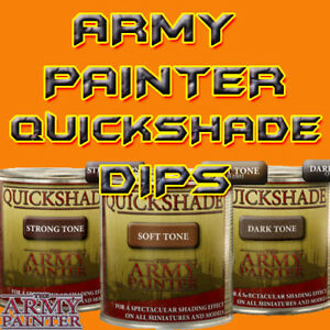 Army Painter Quickshade (250ml) Wash Dip for Dipping Miniatures 3 Choices