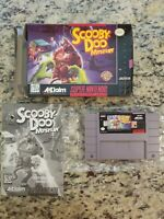 SNES Scooby Doo Mystery CIB Complete in Box Game TESTED FREE SHIP