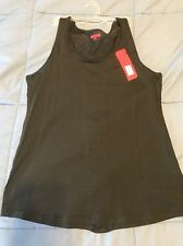 NWT Spanx Streamlined Tank Mesh Back 1830 Sporty Exercise Yoga Relax Fit Sz Sm