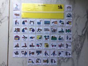 PECS/Boardmaker Chores/Housework Schedule & 48 cards for autism/ASD/SEN/ADHD