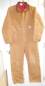 Carhartt® Washed Duck Insulated Coveralls w/ Corduroy Collar-42 Regular