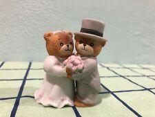 Bride and Groom, Teddy Bears, Figurine or Cake Topper