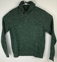 Tommy Hilfiger Cowl Neck Long Sleeve Pullover Sweater Green Mens M Medium