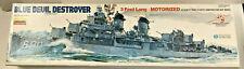 Lindberg Blue Devil Destroyer Fletcher Class 70815 Motorized Ship Model Made/USA