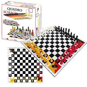 SchachQueen - QuadroSchach QuadroDame - Schach und Dame für bis zu vier Spieler