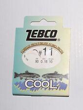 2 pochettes: Hameçons montés Zebco Cool truite N°11 0,18mm par 10
