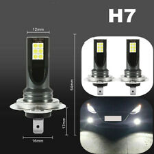 2x H7 60W 16000LM 6000K COB LED Fog DRL Driving Car Head Light Lamp Bulb White
