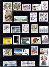 NOUVEAUTE France 2017 - ANNEE COMPLETE des timbres gommés oblitérés  2 scans