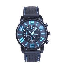 Men Fashion Stainless Steel Sport Cool Quartz Hours Wrist Analog Watch BU