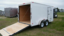 7x12 Enclosed Cargo Trailer Tandem Motorcycle Utility Dual Landscape CALL NOW !!