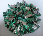 High quality Basketball School Halloween Cheerleader 2PomPoms Green mix Silver