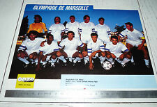 CLIPPING POSTER FOOTBALL 1989-1990 OLYMPIQUE MARSEILLE OM VELODROME