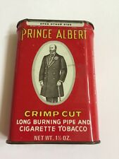 Vintage Prince Albert Crimp Cut Pipe and Cigarette Tobacco Tin 1 1/2 OZ