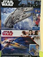 Star Wars Poe Dameron's X Wing Fighter & Millennium Falcon C2159 / B7569
