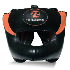 Ringside Omega Ultra Pro Boxing Bar Head Guard Black / Orage Helmet Gear MMA