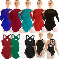Women Ladies Ballet Dance Lyrical Dress Contemporary Gymnastics Leotard Costume