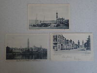Vintage Postcard. Set of Three of Greenock with stamps (63,64,65))