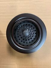 3 1/2 in. Post Basket Strainer Oil Rubbed Bronze Metal Kitchen Sinks Solid Brass