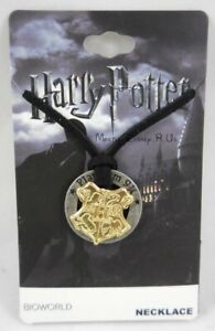 New Harry Potter Hogwarts Crest Pendant Cord Necklace Train Platform 9 3/4