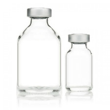 (70) Sealed Sterile 20mL Glass Serum Vials. Aluminum Center Tear Out