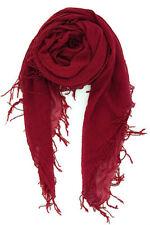 Chan Luu Soft Cashmere & Silk Scarf Wrap Solid Sexy BIKING RED BRH-SC-140 RARE!