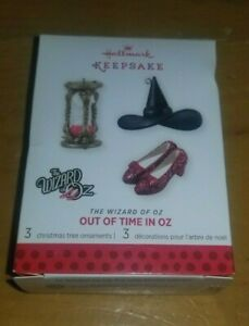 Hallmark 2013 Wizard of Oz - Out of Time in Oz - Minature Set of 3 Ornaments