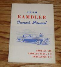 Original 1959 AMC Rambler Rebel Ambassador Owners Operators Manual 59