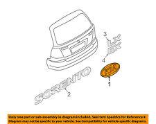 KIA OEM 03-06 Sorento Liftgate Tailgate Hatch-Emblem Badge Nameplate 863203E031