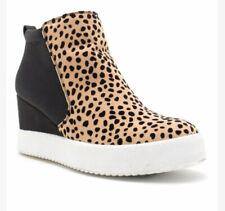 NEW Qupid Women Rodina Black Leopar Wedge High Top Sneaker Shoes Size 7.5 w/Box