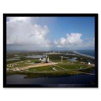 Launch Pads Shuttle Space Rocket 12X16 Inch Framed Art Print