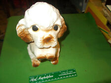 OLD CUTE DOG CHINA POTTERY CERAMIC PIGGY BANK  ABOUT 8 INCHES TALL